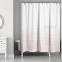 Designs Direct Life is Sweet Check 74-Inch x 71-Inch Shower Curtain in Purple