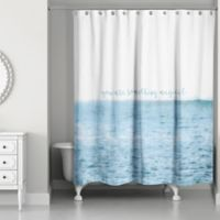 Designs Direct You Are Something Magical 74-Inch x 71-Inch Shower Curtain in Blue