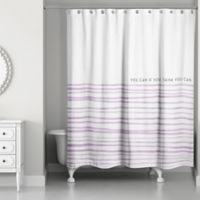 Designs Direct You Can If You Think You Can 74-Inch x 71-Inch Shower Curtain in Purple