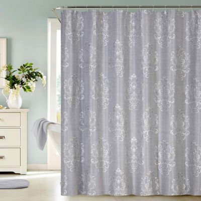 Dainty Home Bella Jacquard Shower Curtain