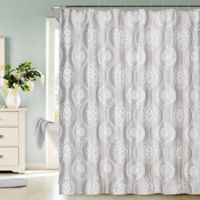 Dainty Home Monaco 3D Shower Curtain In Silver
