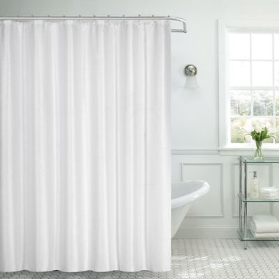 white waffle shower curtain. Dainty Home Waffle Textured Shower Curtain In White W