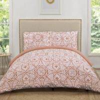 Truly Soft Marcello Twin XL Duvet Cover Set in Coral