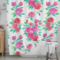 KESS InHouse® Pink Roses Shower Curtain