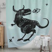 KESS InHouse® Fire Monster Shower Curtain