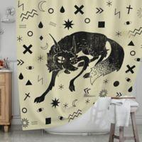 KESS InHouse® Wolf Shower Curtain