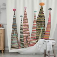 KESS InHouse® Feather Peaks Shower Curtain