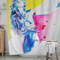 KESS InHouse® Painful Shower Curtain