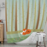 KESS InHouse® Sleeping Fox Shower Curtain