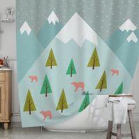 KESS InHouse® Bears Illustration Shower Curtain
