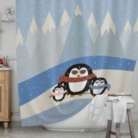 KESS InHouse® Cute Penguins Shower Curtain
