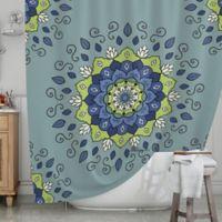 KESS InHouse® Mandala Shower Curtain in Blue/Green