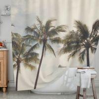 KESS InHouse® Boho Palms Shower Curtain