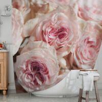 KESS InHouse® Pink Roses Shower Curtain