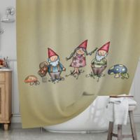 KESS InHouse® Gnomes Shower Curtain