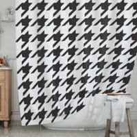 KESS InHouse® Spacey Houndstooth Shower Curtain