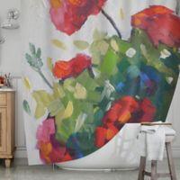 KESS InHouse® Cheerful Geranium Shower Curtain