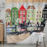 KESS InHouse® Bicycle Shower Curtain