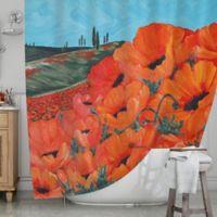 KESS InHouseR Poppies Shower Curtain