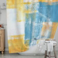 KESS InHouse® Color Combo Shower Curtain