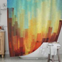 KESS InHouse® Urban Sunset Shower Curtain