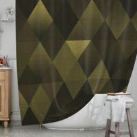 KESS InHouse® Golden Triangles Shower Curtain