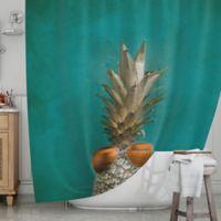 KESS InHouse® 24 Karat Pineapple Shower Curtain