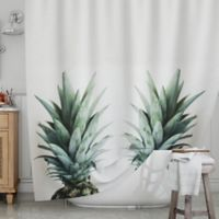 KESS InHouse® Two Pineapples Shower Curtain