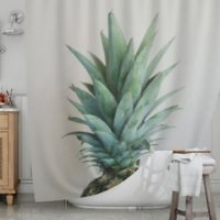 KESS InHouse® The Pineapple Shower Curtain