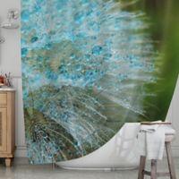 KESS InHouse® Blue Rain Dandelion Shower Curtain