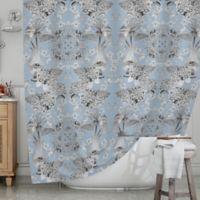 KESS InHouse® Versailles Shower Curtain in Blue