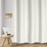 Sheer Sucker 72-Inch x 70-Inch Shower Curtain in Beige