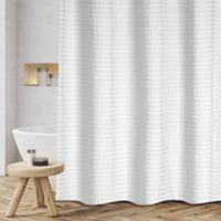 Sheer Sucker 72 Inch X 70 Shower Curtain In White
