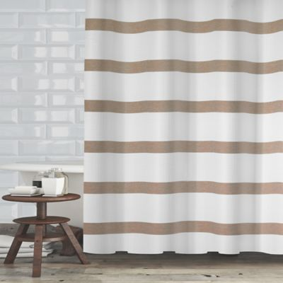 Maluberry 72 Inch X 70 Shower Curtain In Taupe