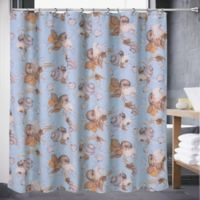 Color Shell 72-Inch x 70-Inch Shower Curtain in Aqua