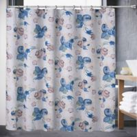 Color Shell 72 Inch X 70 Shower Curtain In Blue