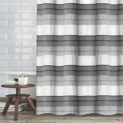 Wellen 72 Inch X 70 Shower Curtain In Charcoal