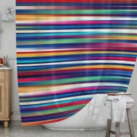 KESS InHouse® Blurry Lines Shower Curtain