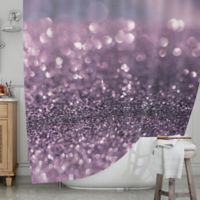 KESS InHouse® Lavender Sparkle Shower Curtain
