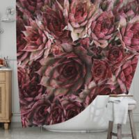 KESS InHouse® Red Succulents Shower Curtain