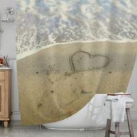 KESS InHouse® Beach Heart Shower Curtain