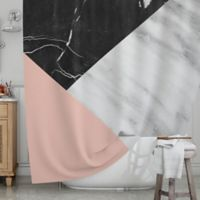 KESS InHouse® Marble Collage Shower Curtain