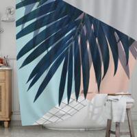 KESS InHouse® Pastel Geometry Shower Curtain