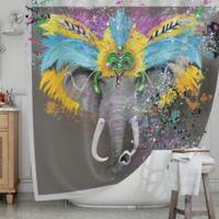 KESS InHouse® Elephant Headdress Shower Curtain