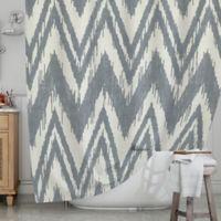 KESS InHouseR Tribal Chevron Shower Curtain In Grey