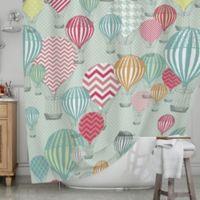 KESS InHouse® Hot Air Balloons Shower Curtain