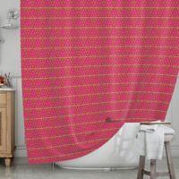 KESS InHouse® Woven Red Shower Curtain