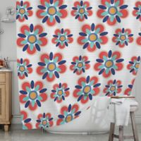 KESS InHouse® Red Folksy Shower Curtain