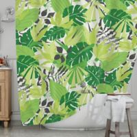 KESS InHouse® Tropicana Shower Curtain in Green