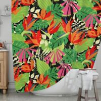 KESS InHouse® Tropicana Hot Shower Curtain